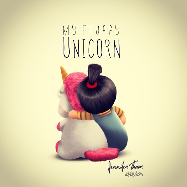 My Fluffy UnicornDespicable Me Unicorn Drawing